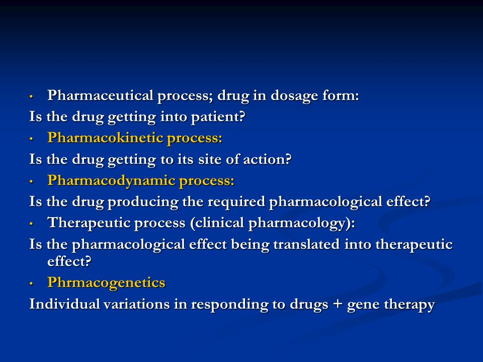 Pharmaceutical process; drug in dosage form: