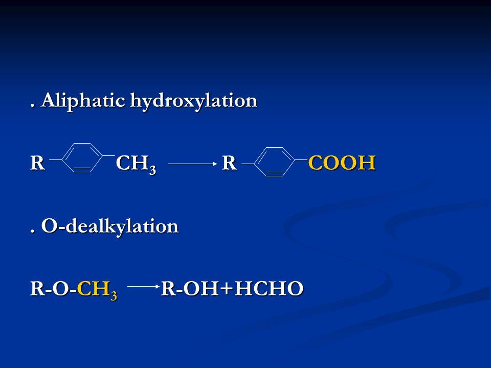 . Aliphatic hydroxylation