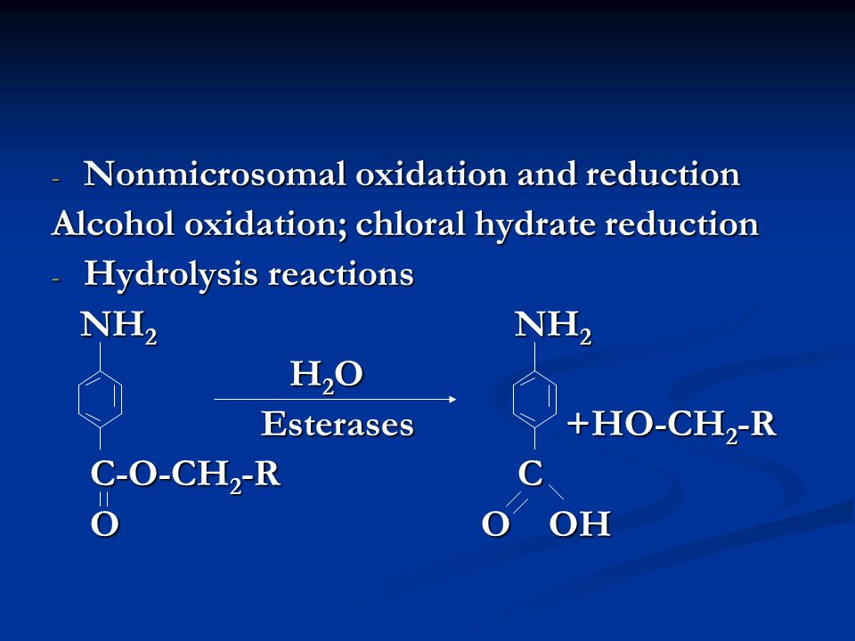 Nonmicrosomal oxidation and reduction