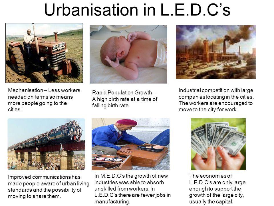 Urbanisation in L.E.D.C's