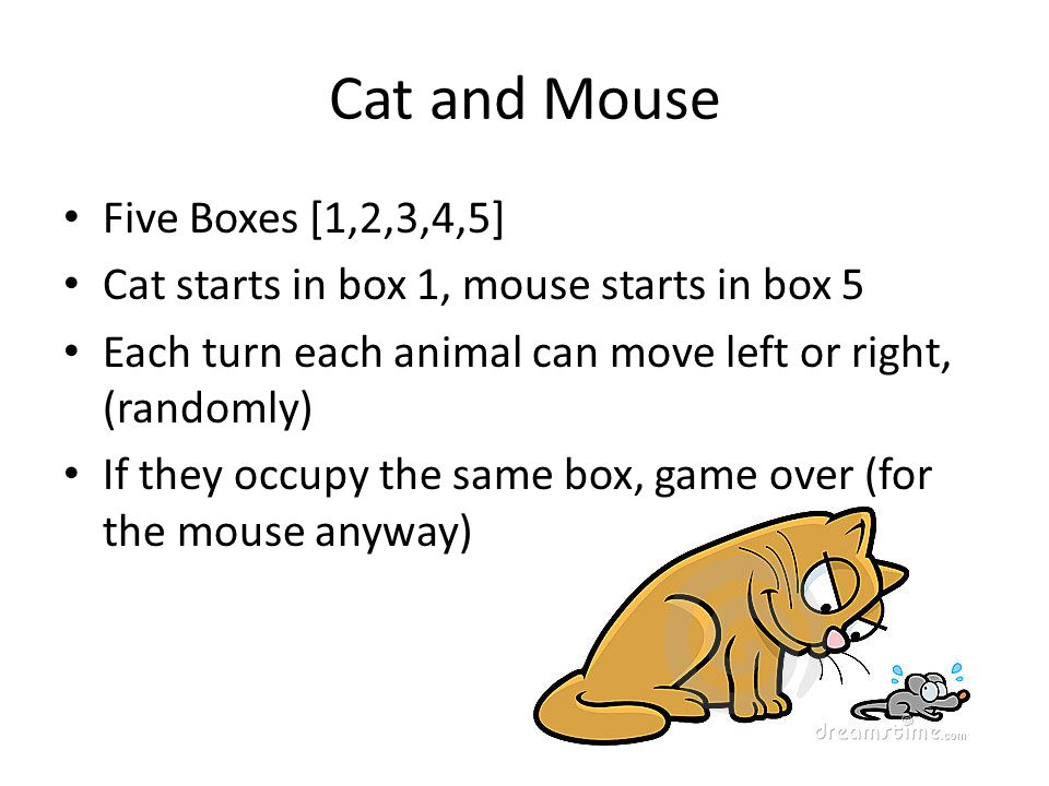 Cat and Mouse Five Boxes [1,2,3,4,5]
