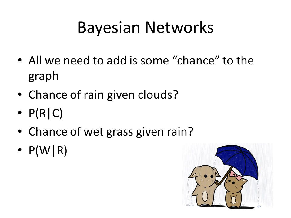 Bayesian Networks All we need to add is some chance to the graph