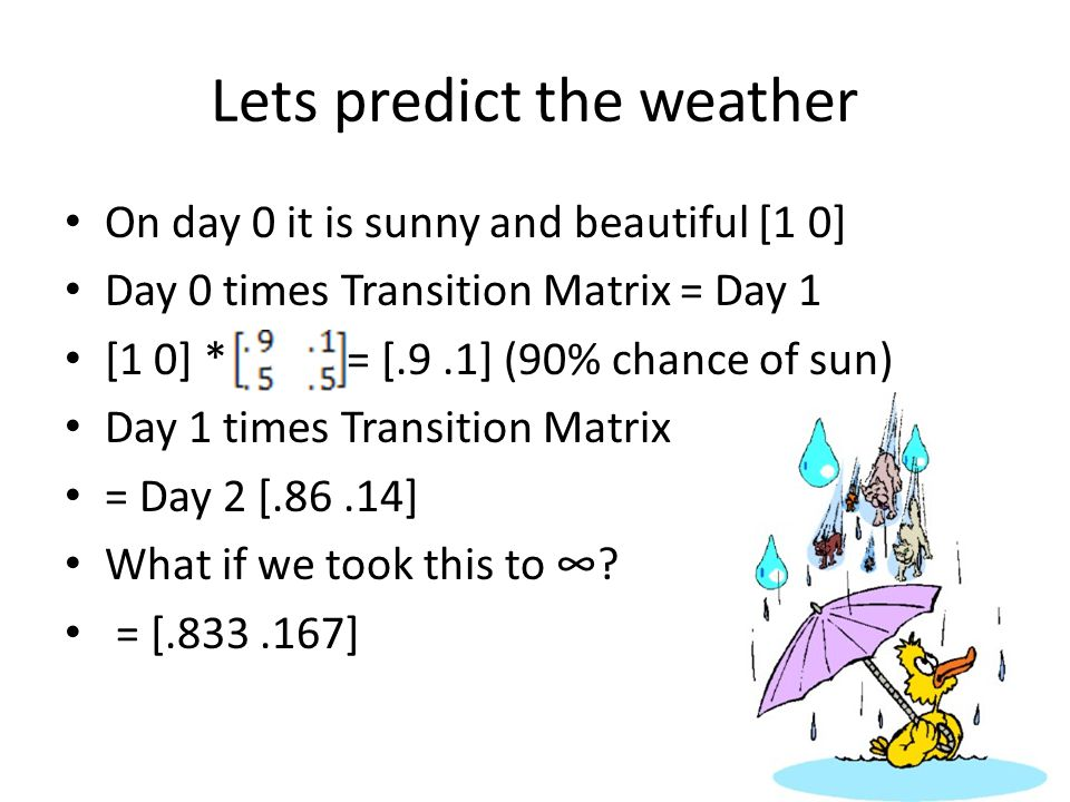Lets predict the weather