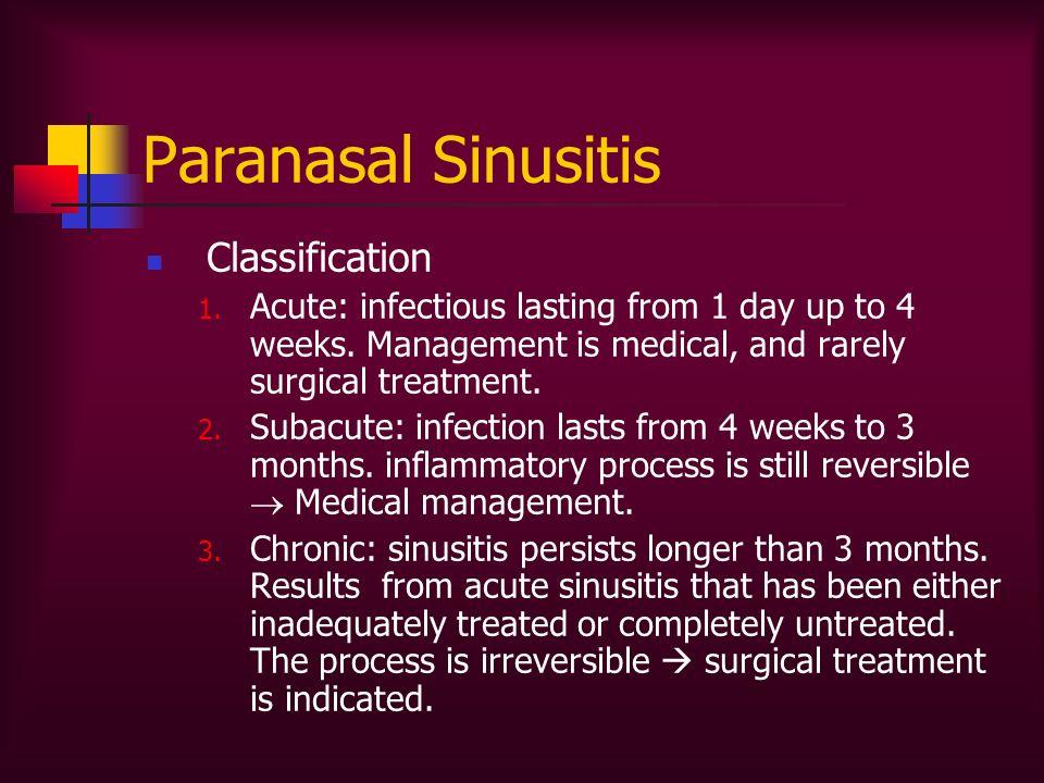 Paranasal Sinusitis Classification