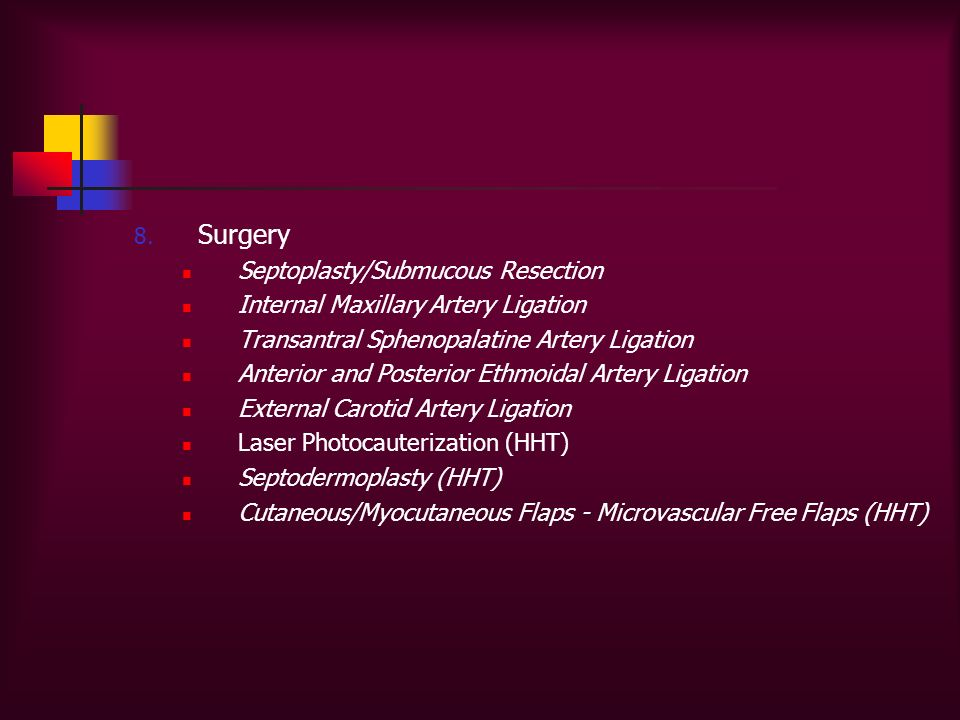 Surgery Septoplasty/Submucous Resection