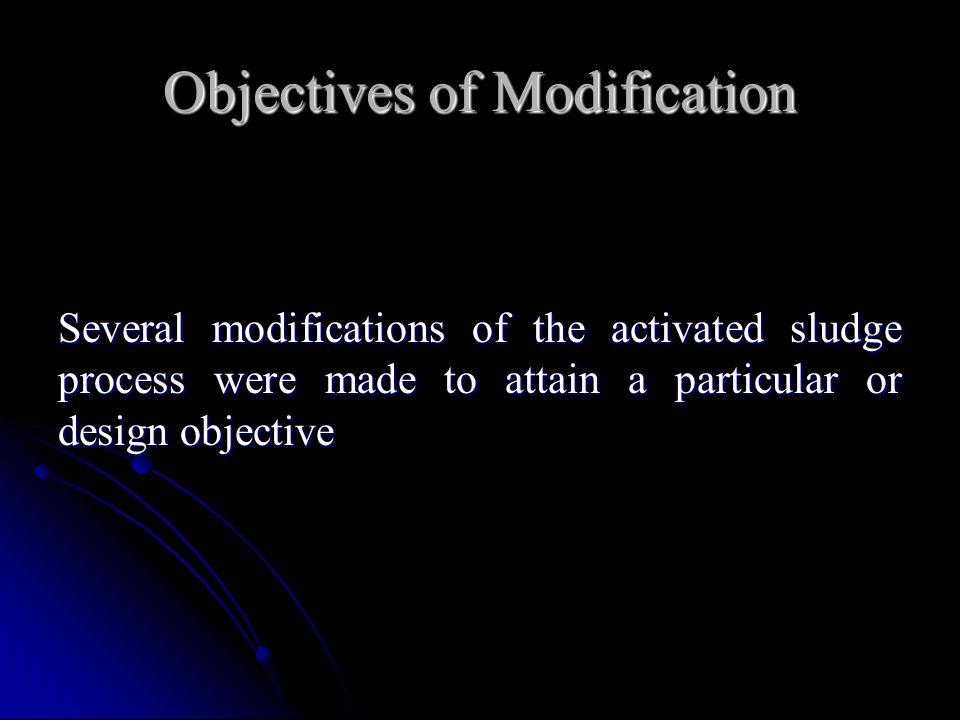 Objectives of Modification