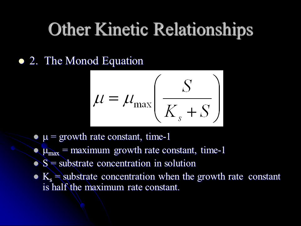 Other Kinetic Relationships