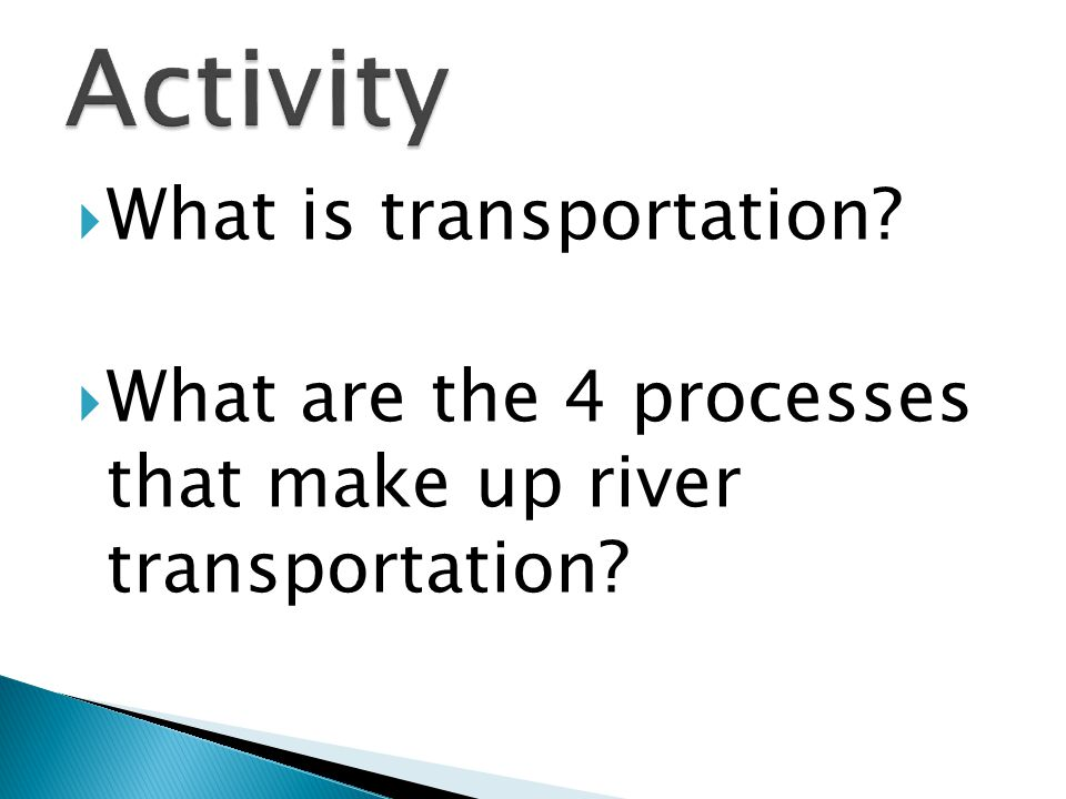 Activity What is transportation