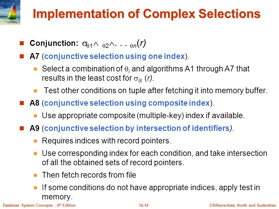 Implementation of Complex Selections