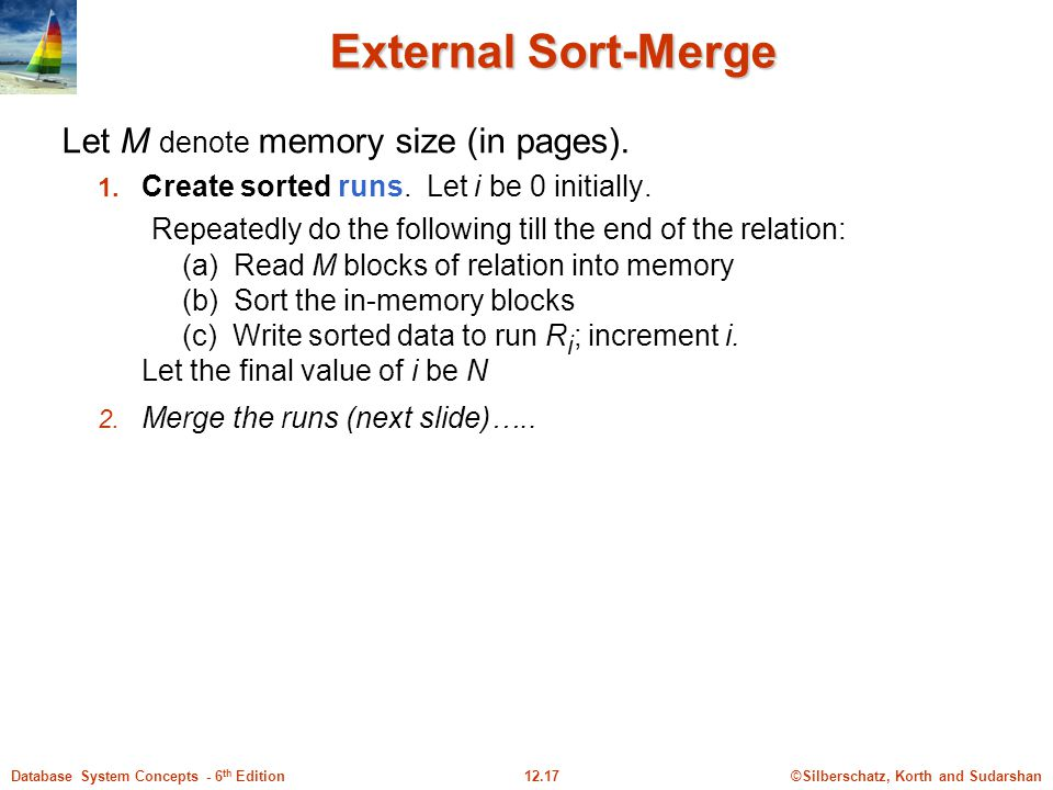 Let M denote memory size (in pages).