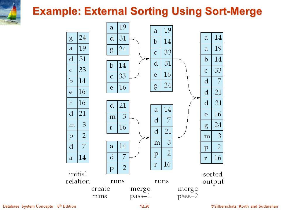 Example: External Sorting Using Sort-Merge