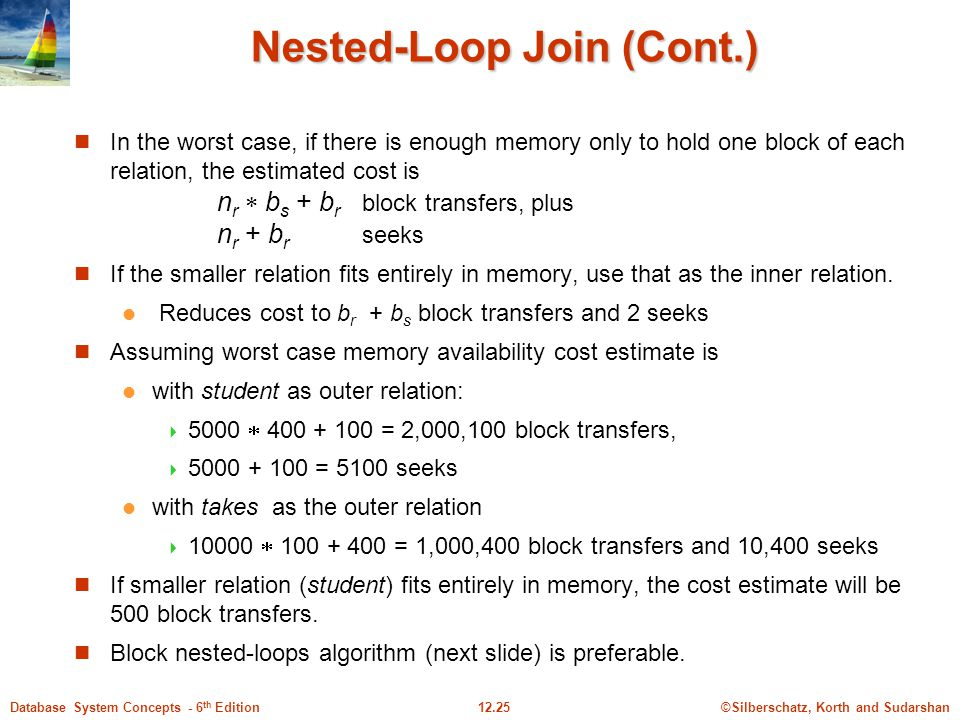 Nested-Loop Join (Cont.)