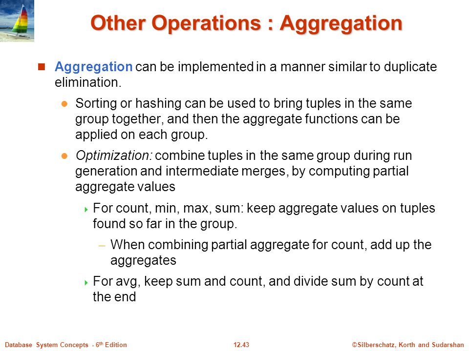 Other Operations : Aggregation