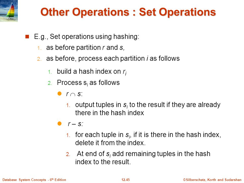 Other Operations : Set Operations