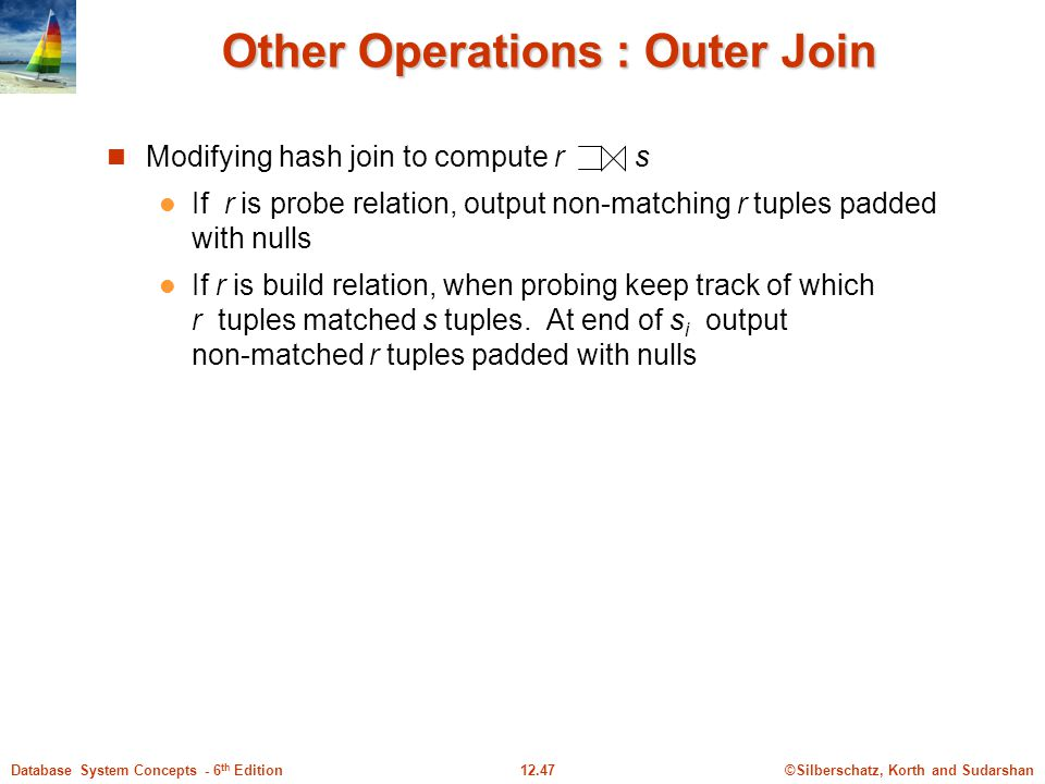 Other Operations : Outer Join