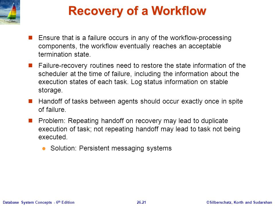 Recovery of a Workflow