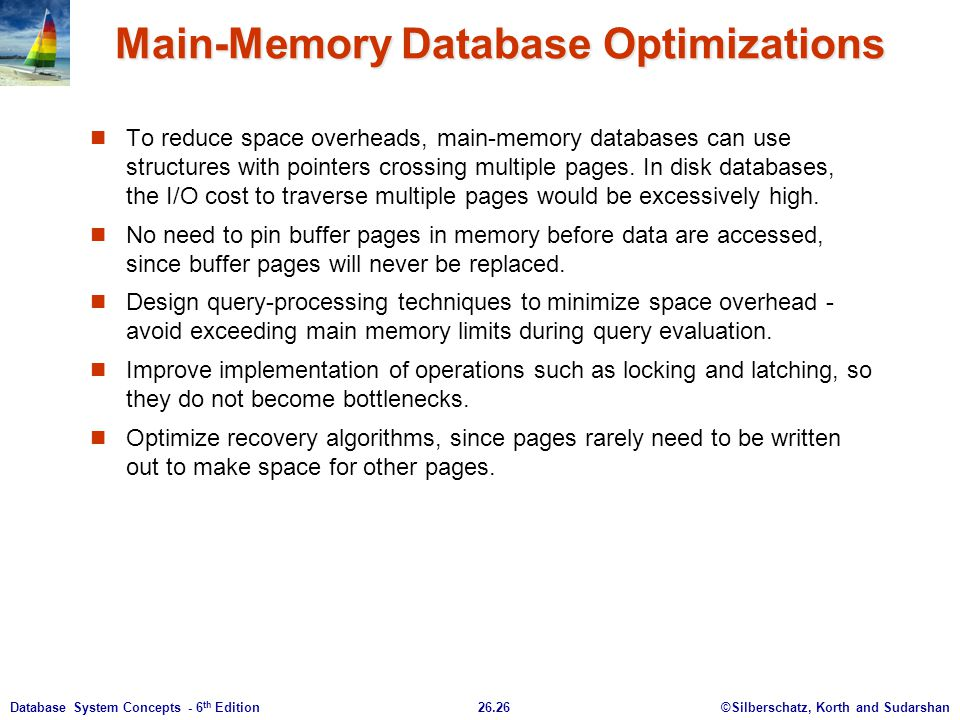 Main-Memory Database Optimizations