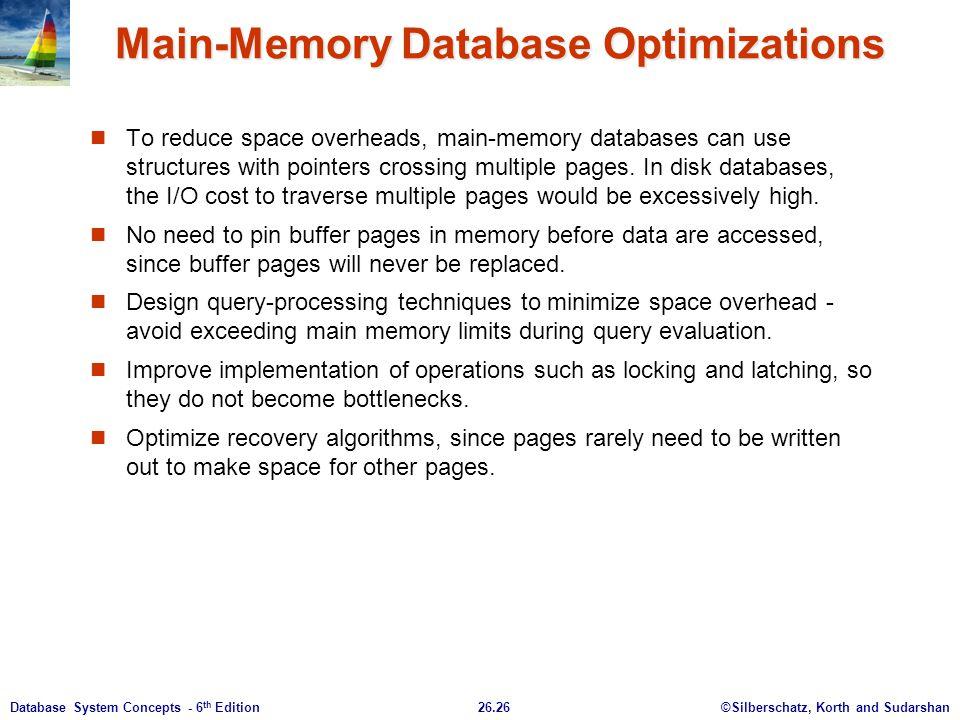 Main-Memory Database Optimizations