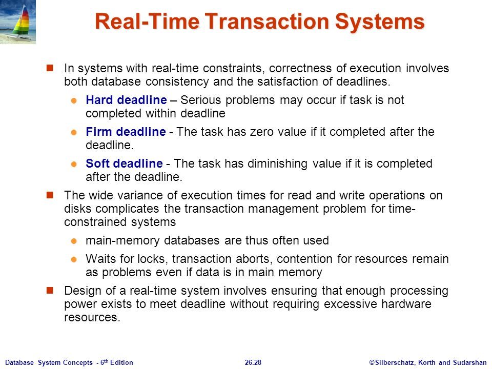 Real-Time Transaction Systems