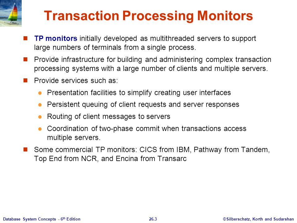Transaction Processing Monitors