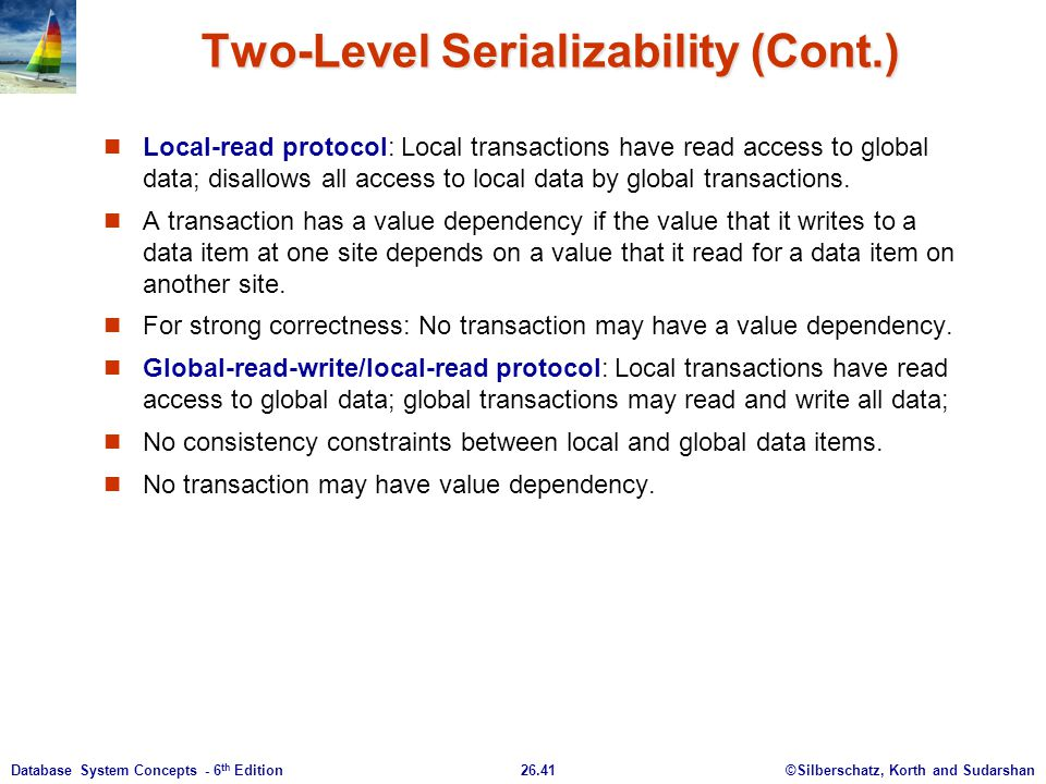Two-Level Serializability (Cont.)