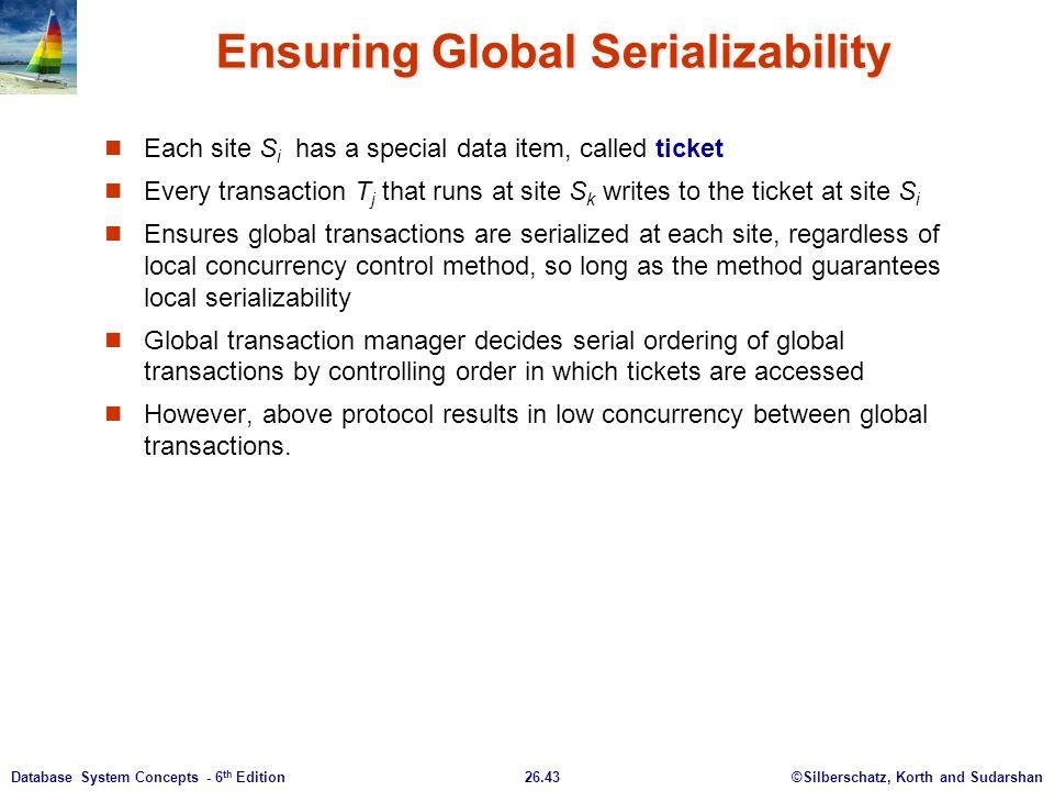 Ensuring Global Serializability