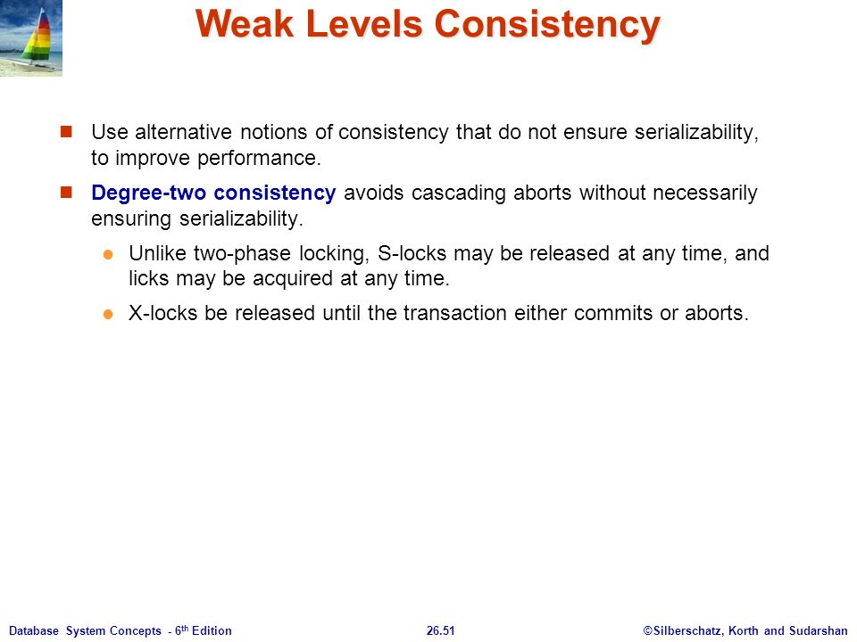 Weak Levels Consistency