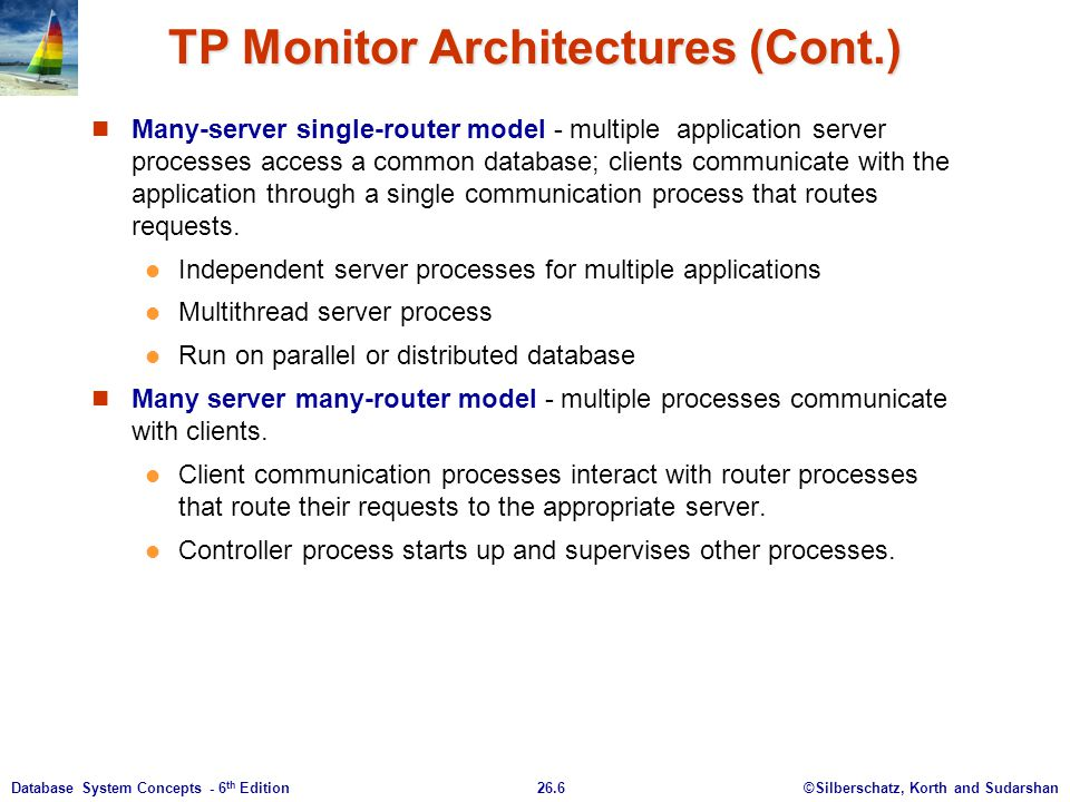 TP Monitor Architectures (Cont.)