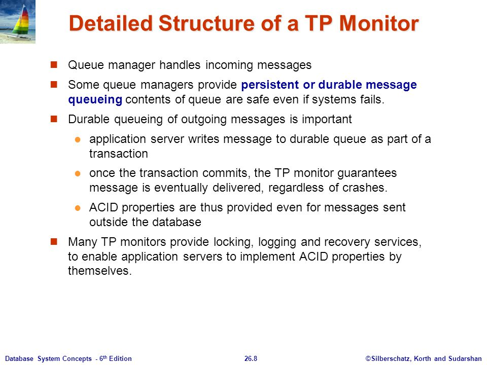 Detailed Structure of a TP Monitor