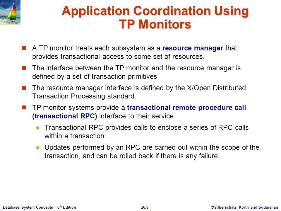 Application Coordination Using TP Monitors