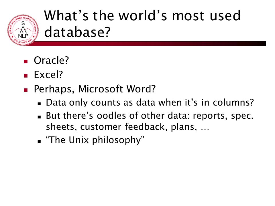 What's the world's most used database