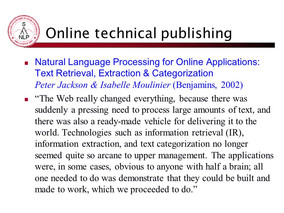 Online technical publishing