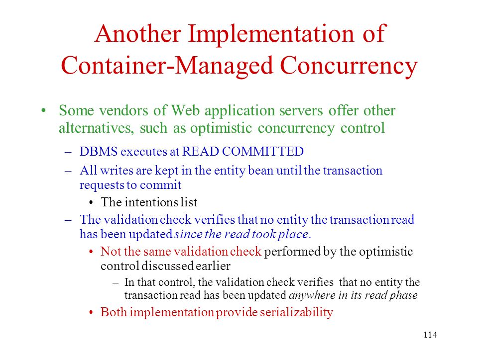 Another Implementation of Container-Managed Concurrency