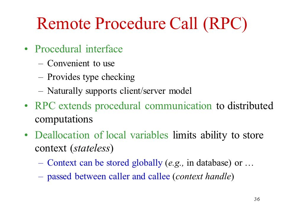 Remote Procedure Call (RPC)
