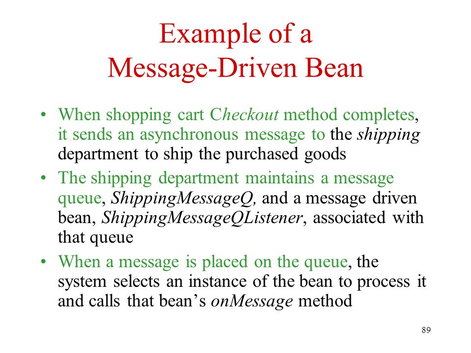 Example of a Message-Driven Bean