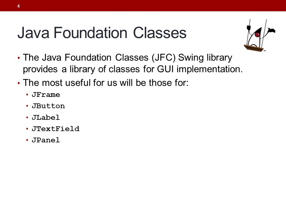 Java Foundation Classes