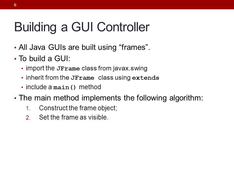 Building a GUI Controller