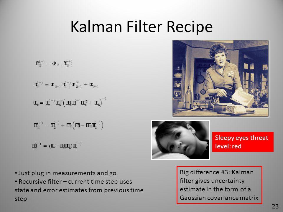 Kalman Filter Recipe Sleepy eyes threat level: red
