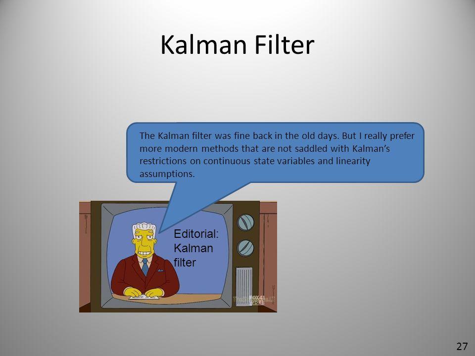 Kalman Filter Editorial: Kalman filter