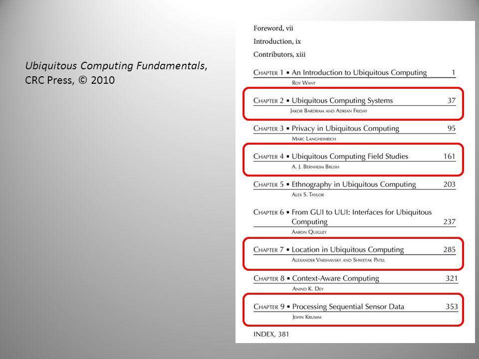 Ubiquitous Computing Fundamentals,