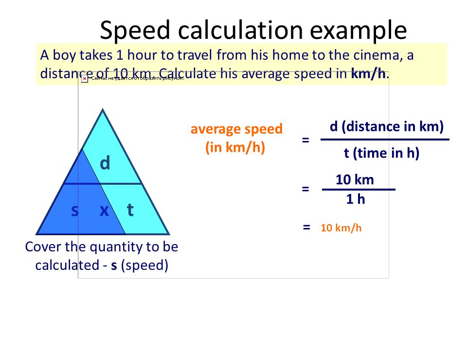 Speed calculation example