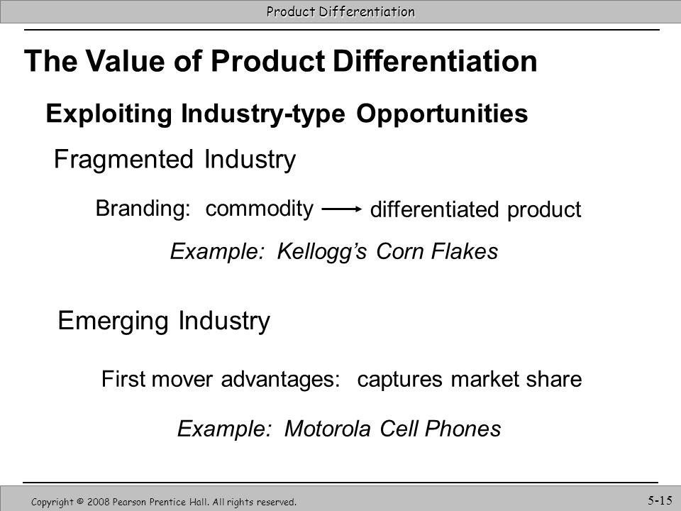 The Value of Product Differentiation