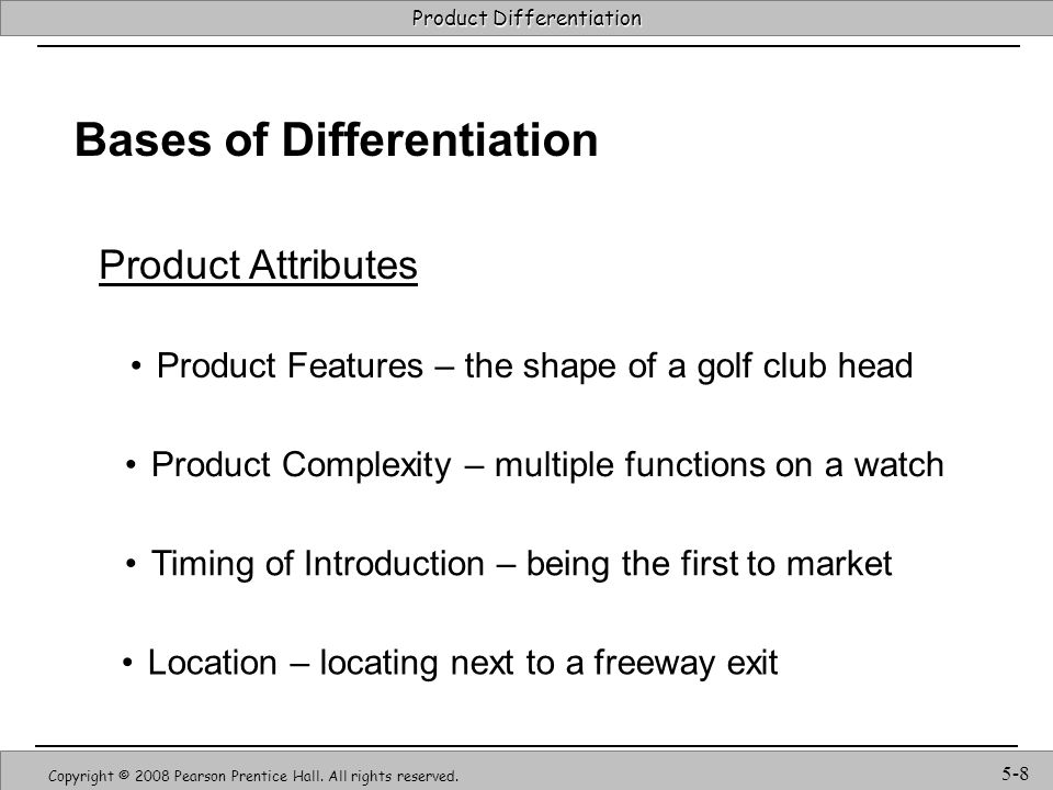 Bases of Differentiation