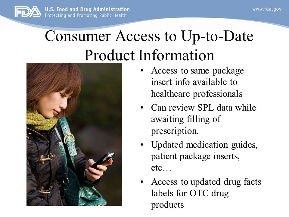 Consumer Access to Up-to-Date Product Information