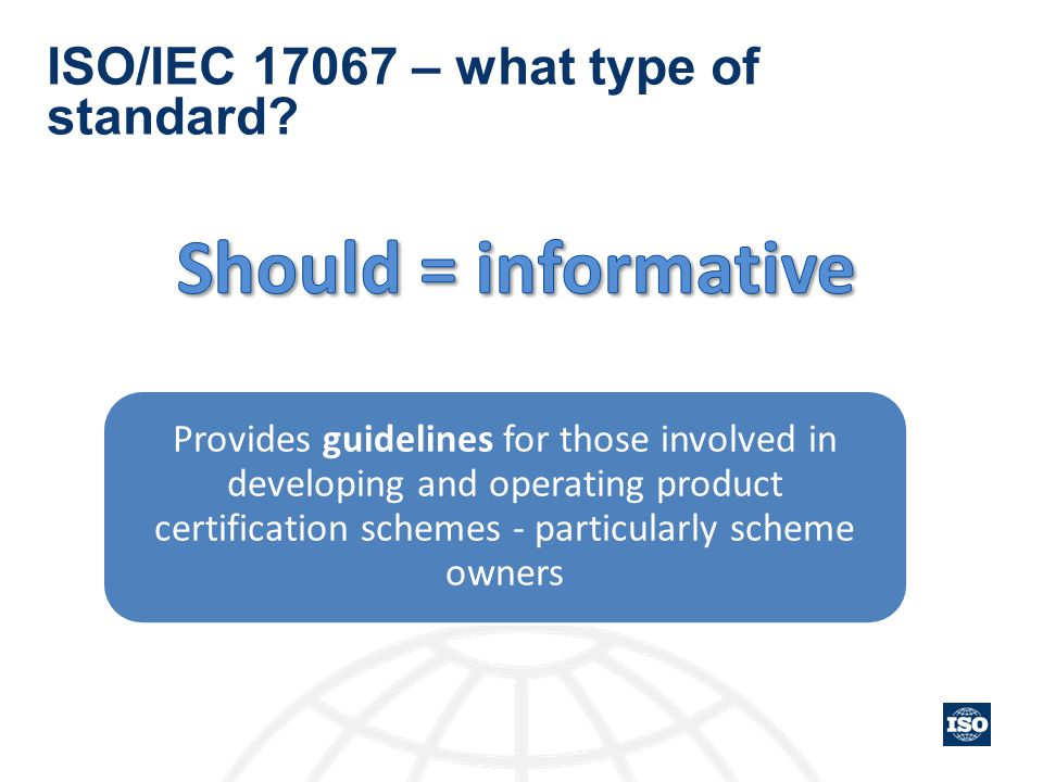 ISO/IEC 17067 – what type of standard