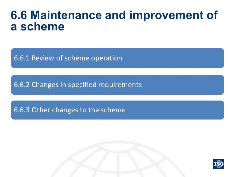 6.6 Maintenance and improvement of a scheme