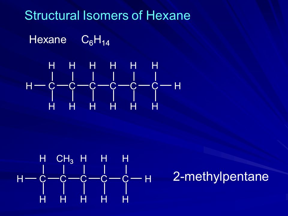 Structural Isomers of Hexane