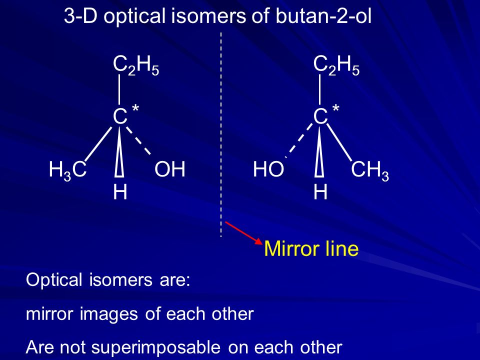 3-D optical isomers of butan-2-ol