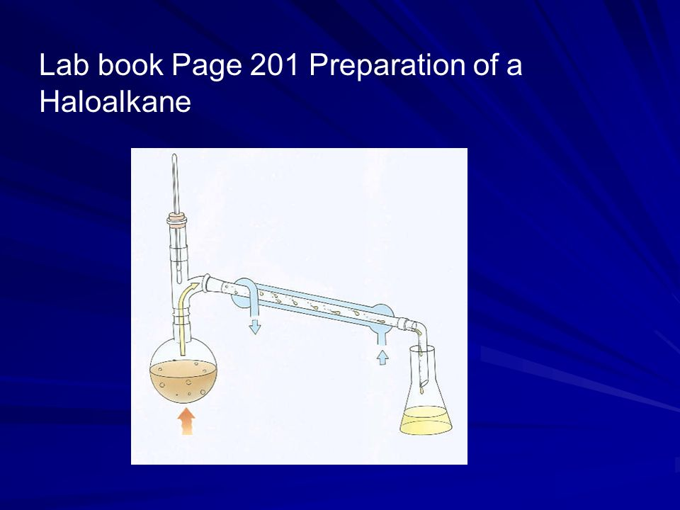 Lab book Page 201 Preparation of a Haloalkane