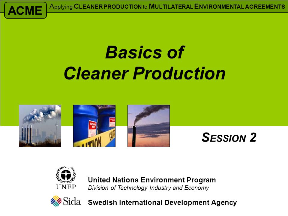 Basics of Cleaner Production